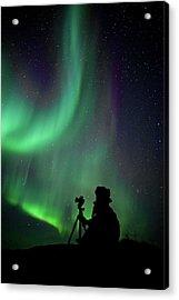 Photographer Catching Beautiful Light Acrylic Print by Lars Mathisen Photography