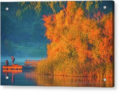Acrylic Print featuring the photograph Photographing The Sunrise by Marc Crumpler