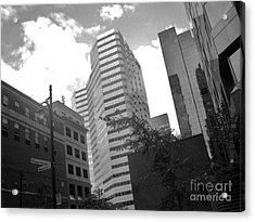 Photos Of Montreal Mansfield St Acrylic Print by Reb Frost