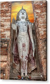 Acrylic Print featuring the photograph Phra Attharot Buddha by Adrian Evans