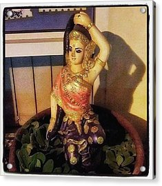 Acrylic Print featuring the photograph Phra Mae Thorani. Holy Mother Of Earth by Mr Photojimsf