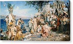 Phryne At The Festival Of Poseidon In Eleusin Acrylic Print
