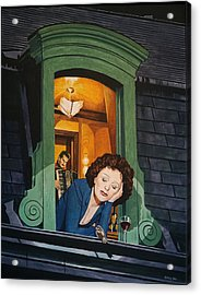 Piaf Acrylic Print by Jo King