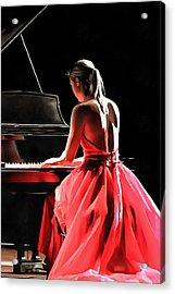 Pianist Acrylic Print