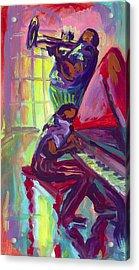 Piano And Trumpet Acrylic Print by Saundra Bolen Samuel