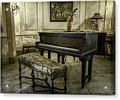 Acrylic Print featuring the photograph Piano At Josie's House by Joan Carroll