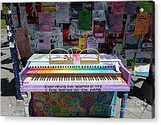Piano At Tack Board On Sproul Plaza At The University Of California Berkeley Dsc6249 Acrylic Print