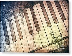 Piano Days Acrylic Print by Jutta Maria Pusl