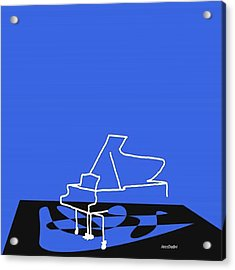 Piano In Blue Prints Available At Acrylic Print