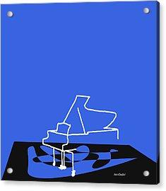 Piano In Blue Acrylic Print