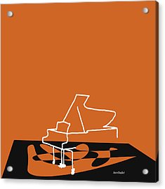 Piano In Orange Acrylic Print