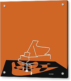 Piano In Orange Prints Available At Acrylic Print