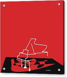 Piano In Red Acrylic Print