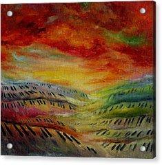 Piano Key Dusk Acrylic Print by Stephanie Cox