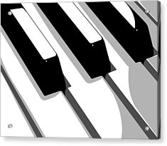 Piano Keyboard Acrylic Print by Michael Tompsett