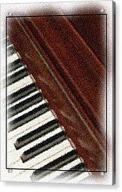 Piano Keys Acrylic Print by Carolyn Marshall