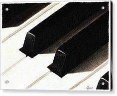 Piano Keys Acrylic Print by Jeanne Delage