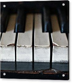 Piano Keys Acrylic Print by Julie Rideout