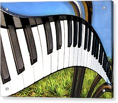 Piano Land Acrylic Print