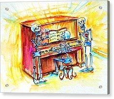 Piano Man Acrylic Print by Heather Calderon
