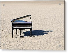 Piano On Beach Acrylic Print