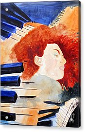Acrylic Print featuring the painting Piano by Sandy McIntire
