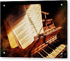 Piano Sheet Music Acrylic Print