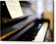 Piano With Blur Acrylic Print by Photo by Giuseppe Amato