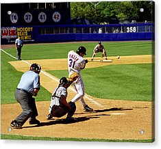 Piazza '98 Acrylic Print by Steven Sachs