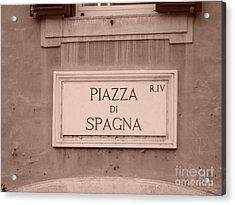 Piazza Di Spagna Acrylic Print