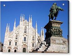 Piazza Duomo In Milan Acrylic Print