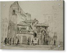 Piazza Fiume Rome Acrylic Print