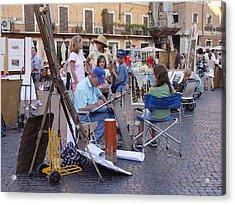 Piazza Navona Acrylic Print