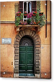 Acrylic Print featuring the photograph Piazza Navona House by Marion McCristall