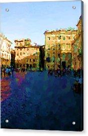 Piazza Navona In Rome Acrylic Print by Asbjorn Lonvig