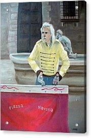 Piazza Puppeteer Acrylic Print by Joe Lanni
