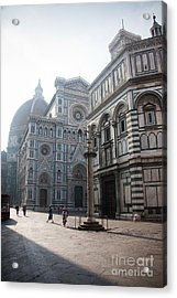 Piazza San Giovanni In The Morning Acrylic Print by Steven Gray