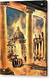 Piazza San Pietro In Roma Italy Acrylic Print