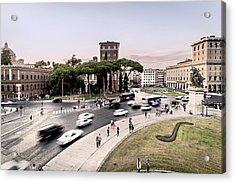 Piazza Venezia, Rome Acrylic Print by Ute Herzog