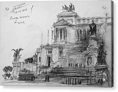 Piazza Venezia Rome Acrylic Print