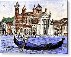 Piazzo San Marco Venice Italy Acrylic Print by Arlene  Wright-Correll