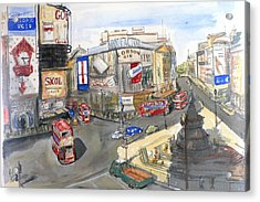 Picadilly Circus Acrylic Print by Dan Bozich