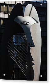 Picasso Sculpture Chicago Morning Acrylic Print by Steve Gadomski