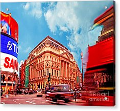 Piccadilly Circus London Acrylic Print by Chris Smith