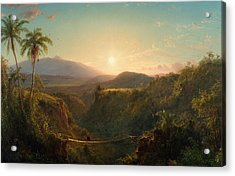 Pichincha Acrylic Print by Frederic Edwin Church