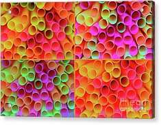 Acrylic Print featuring the photograph Pick A Straw By Kaye Menner by Kaye Menner