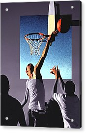 Pick Up Game Acrylic Print by Gerard Fritz