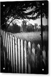 Picket Fence Landscape Acrylic Print by Michael L Kimble