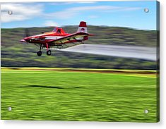 Picking It Up And Putting It Down - Crop Duster - Arkansas Razorbacks Acrylic Print by Jason Politte