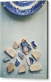 Picking Up The Broken Pieces Acrylic Print
